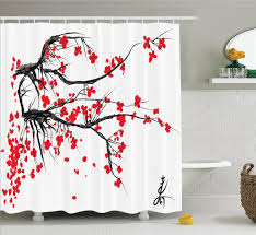 Marilyn Monroe Bathroom Sets by Pretty Cherry Blossom Shower Curtain