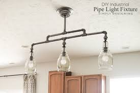 DIY Industrial Pipe Light Fixture