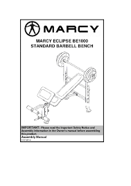 Marcy Ct4000 Roman Chair by 14mebe1000 Marcy Eclipse Standard Barbell Bench Be1000 Assembly Manual 1 Pdf Jpg