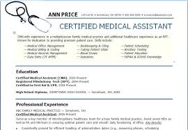 Objective For Resume Medical Assistant Free Letter Templates