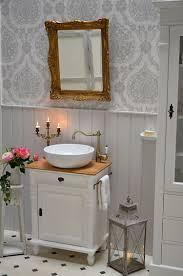 grenadine landhaus waschtisch mit eichenplatte und