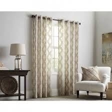 Allen Roth Breesport Polyester Grommet Sheer Single Curtain