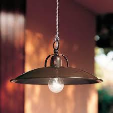 Rustic Brass Or Iron Pendant Light