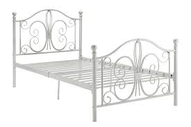 Bamboo Headboard And Footboard by Amazon Com Dhp Bombay Metal Bed Twin White Kitchen U0026 Dining