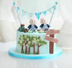 torte für zwillinge 30 ideen für geburtstag taufe geburt