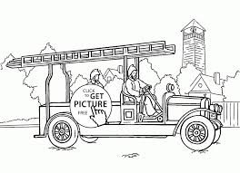 Free Fire Truck Coloring Pages Printable Valid Very Old Engine Page ...