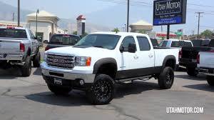 100 Lifted Trucks For Sale In Utah 2014 GMC Sierra 2500HD SLT White Duramax Diesel Motor