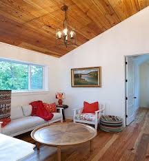 Elegant Wooden Ceiling Decorations For Ecological Home Design Modern Living Room With And