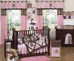 sweet jojo designs pink and chocolate brown teddy bear baby girls