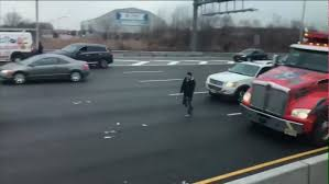 100 Truck Crashes Video Armored Truck Spilling Cash Leads To Multiple Accidents On East