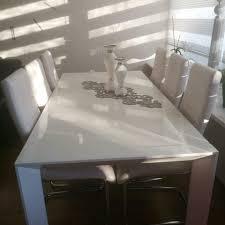 tisch esstisch in weiß hochglanz lack gebraucht