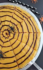 Rice Krispie Halloween Treats Spiders by Spider Web Cookie Pizza With Pumpkin Spice Frosting Halloween
