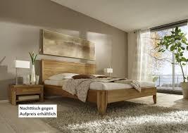 bett kopfteil doppelbett eiche überlänge vollmassiv rustikal runde füße lanatura