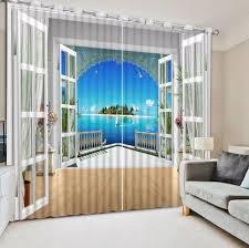 moderne fenster vorhang foto malen große meer landschaft vorhang 3d blackout vorhang landschaft für wohnzimmer schlafzimmer kinder zimmer