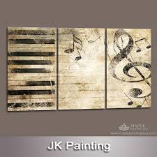 Wall Art Decor Perfect Picture Music Canvas Wallmount Ideas Piano Melody Notes Modern