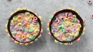 Chocolate Fruit Loop Bowls