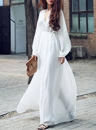 Vintage Style Chiffon Maxi Dress