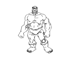 Hulk Coloring Pages Incredible Free Page