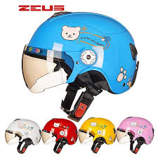 Loveliness Bear Children Kick Scooter Motorcycle ZEUS Helmet For Boys Girls MOTO Electric Bicycle Capacete