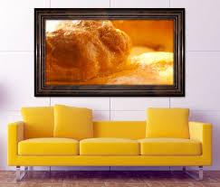 3d wandtattoo brot brötchen beruf bäcker braun gold selbstklebend wandbild wohnzimmer wand aufkleber 11l508