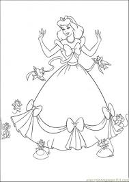 Birds From Cinderella Picture To Color