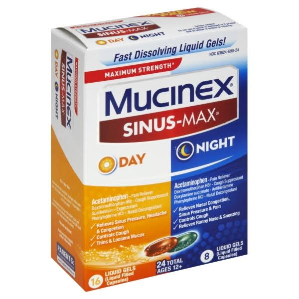 Mucinex Sinus-Max Day & Night Liquid Gels - 24pk