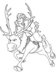 Sven Reindeer Coloring Pages