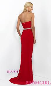 strapless long beaded sweetheart dress promgirl