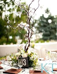 Branches Wedding Decor And Hanging Rustic Centerpiece Crystal Birch