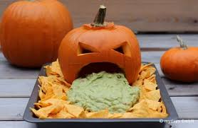 Pumpkin Throwing Up Guacamole With Cheese Dip by Jack O U0027 Lantern Chips U0026 Dip Halloween Costumes Tricks And