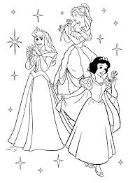 Baby Princess Coloring Pages Free Aurora Colouring