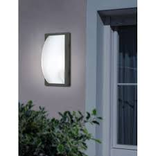 eglo 87184 park5 1 light modern outdoor wall light anthracite