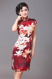 resplendent lily flowers silk cheongsam qipao cheongsam