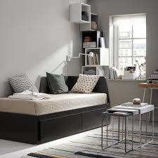 flekke lit d appoint à 2 tiroirs brun noir une place ikea