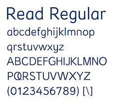 Read Regular is a Clean Arial Like Font