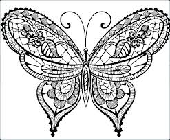 Coloring Picture Of A Butterfly Page