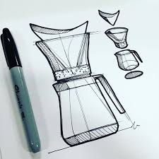 Quick Pour Over Coffee Doodle Industrialdesign Id Design Sketch Idsketch
