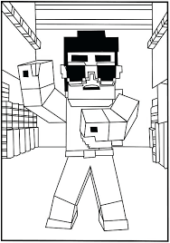 Minecraft Coloring Sheets Free Cool Dance Pages Steve
