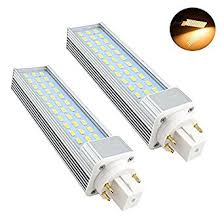 bonlux 2 pack 13w gx24 rotatable led plc l g24q gx24q 4 pin