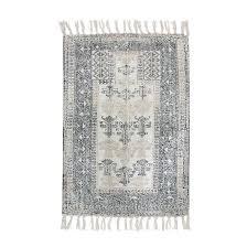 hk living badematte schwarz weiß 60 x 90 cm