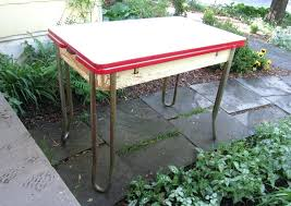 Antique Metal Kitchen Table The Inspiring Tables White Chairs