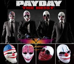 Payday 2 Halloween Masks by Payday 2 Resin Mask Heist Dallas Chains Wolf Hoxton Mask Cosplay