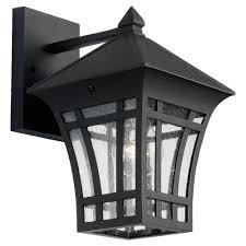sea gull lighting herrington 1 light black outdoor wall fixture