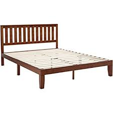 Wood Platform Bed Frame Queen by Amazon Com Jakarta Platform Bed With Wood Frame And Straight
