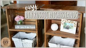DIY Bedroom Furniture⎪Rustic Nightstands