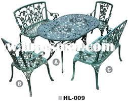 Cast Aluminum Outdoor Sets by Aluminum Vs Cast Iron Patio Furniture Cast Aluminium Garden
