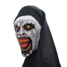 Yacn Halloween Nun Costume For Women,2018 Nun Mask With Veil Scary ...