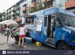 100 Vancouver Food Trucks Truck Parked On A Street Stock Photo 209677736 Alamy