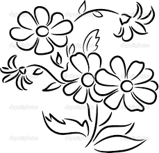 Easy Drawing Bunch Flowers Bunch Flowers Drawings – The Best Flowers Ideas