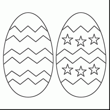 Fabulous Easter Egg Coloring Pages With Page And Crayola